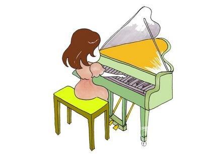 卡通人物画钢琴家的绘画教程