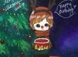 圣诞节儿童画图片-鲁道夫变身