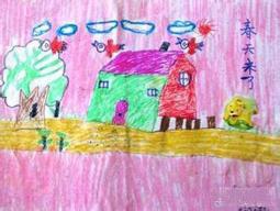 春天主题儿童画作品
