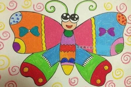 2张漂亮的风筝儿童画