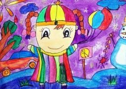 我爱的冬天  关于冬天的儿童画