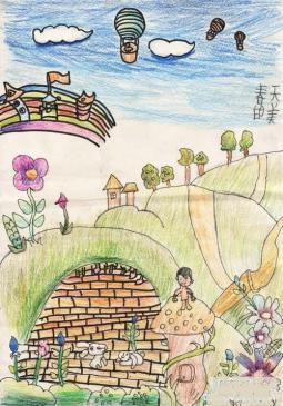 好看漂亮的春天儿童画作品  春天的美