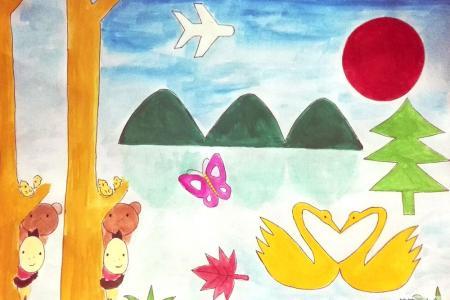 美丽的春天儿童画