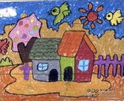 小鸟东南飞  儿童画秋天的图画