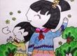 抗战胜利儿童画图片_放飞和平的希望