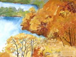 遍地黄金  儿童画秋天的图画