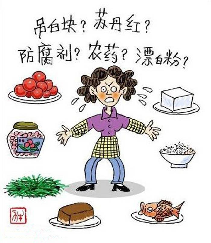 食品安全手抄报漫画,食面埋伏