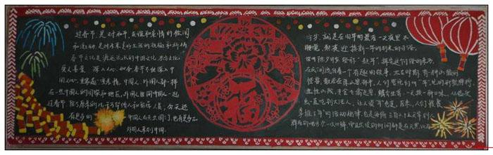 关于2019年春节的黑板报图片,新春迎福