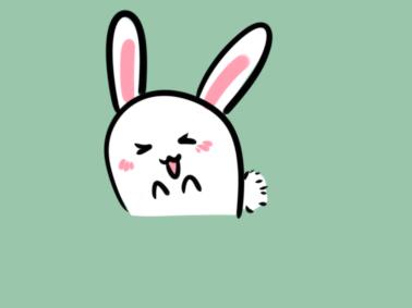 活泼的小兔子简笔画要怎么画?