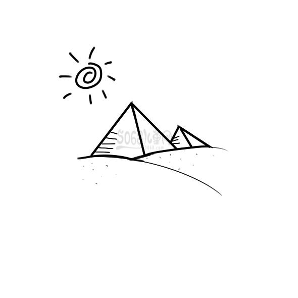 埃及的金字塔要怎么画?