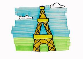 巴黎铁塔怎么画?