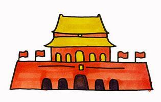 北京天安怎么画?