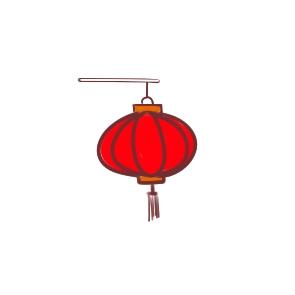 春节彩色灯笼儿童简笔画