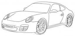 甲壳虫汽车简笔画图片
