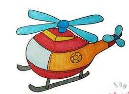 直升机简笔画