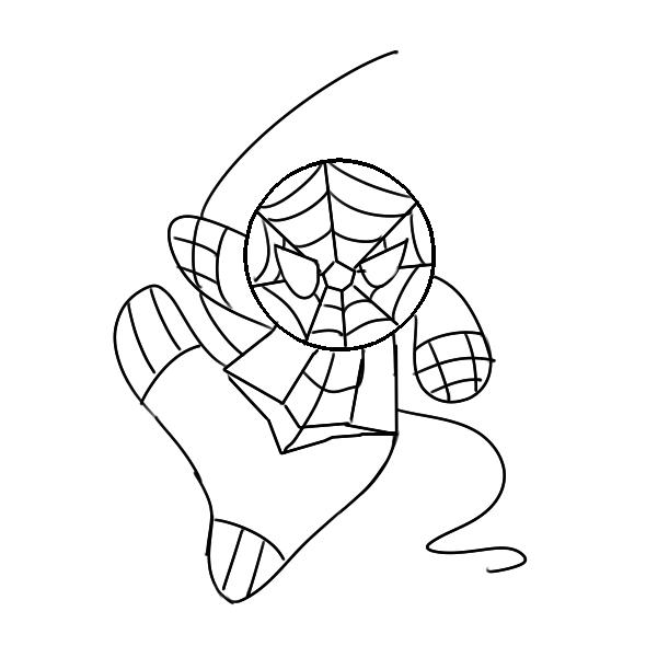 帅气的蜘蛛侠简笔画怎么画?
