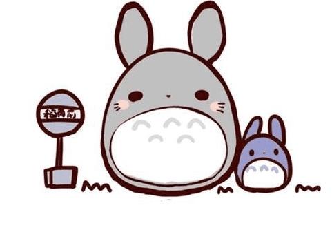 卡通可爱的龙猫简笔画