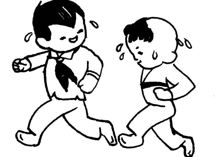 奔跑的人简笔画 运动人物