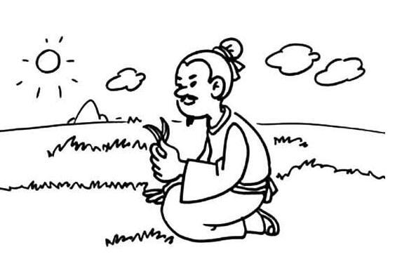 简笔画 人物简笔画 古诗配画人物简笔画    《悯农》二首是唐代诗人图片