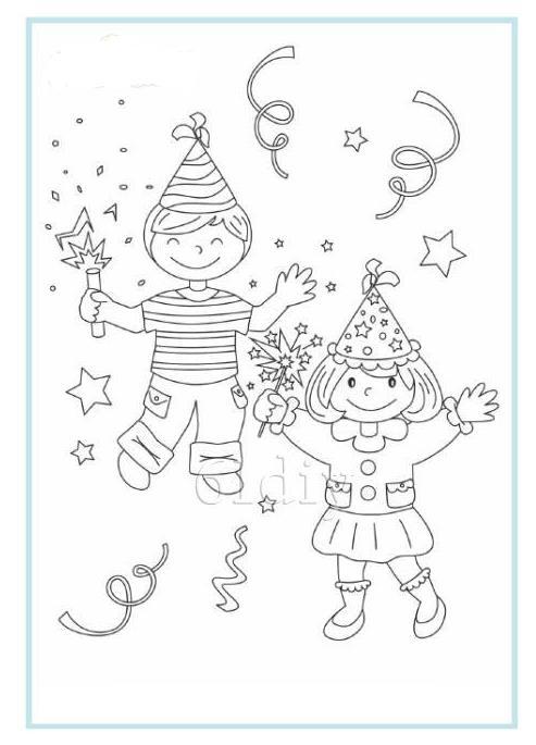 快乐的新年小孩人物简笔画 小男孩简笔画