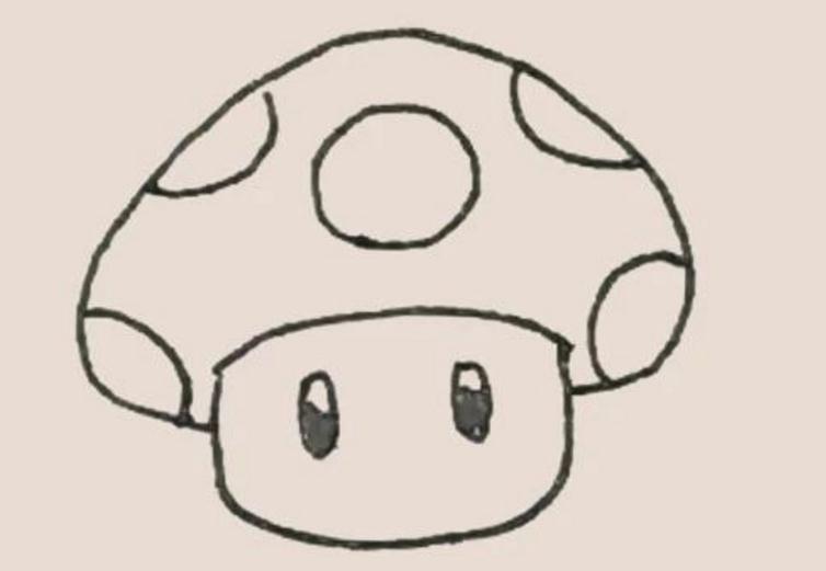 蘑菇简笔画画法步骤教程