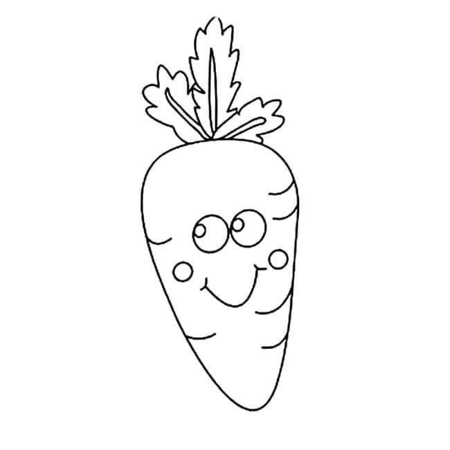 可爱创意的胡萝卜简笔画