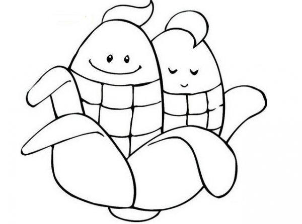 简单可爱的玉米简笔画