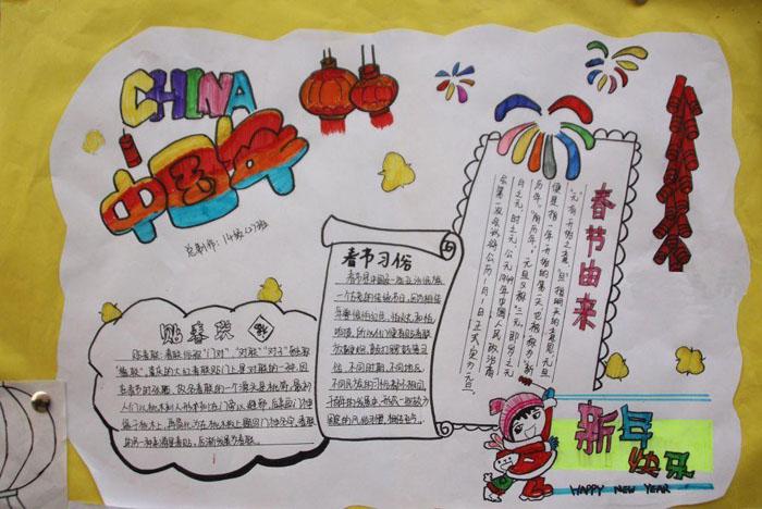 2020年春节手抄报,中国年