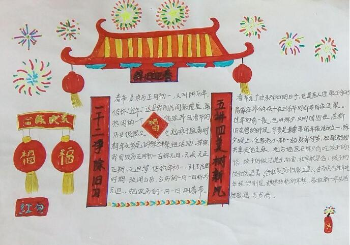 关于春节的手抄报,辞旧迎春过大年