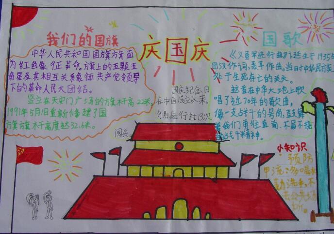 歌颂祖国手抄报,我骄傲我是中国人 公历节日手抄报