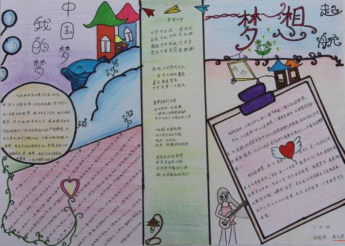 中国梦手抄报图片,中国梦我的梦