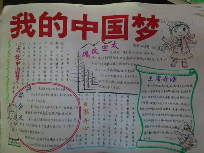 我的中国梦手抄报,我的中国梦