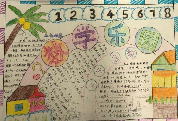 初一数学手抄报图片,数学乐园