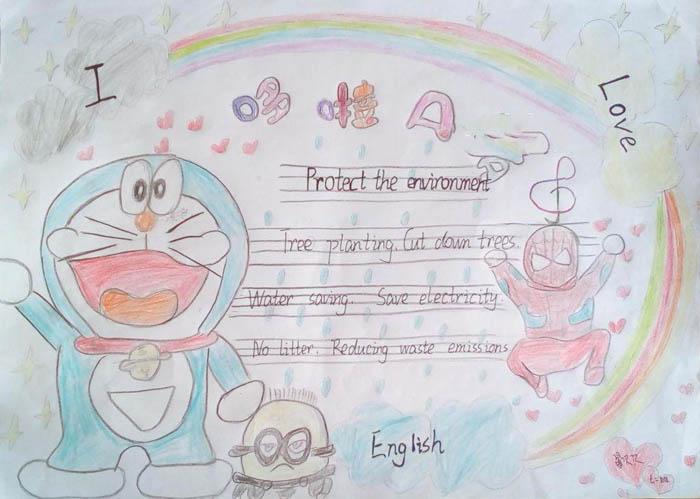 保护地球,我们来一起制作一份英语版的环保手抄报吧!