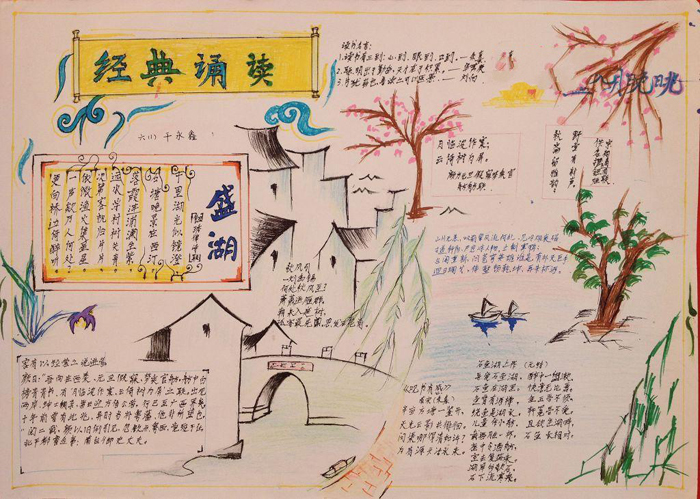中国传统文化手抄报,经典诵读