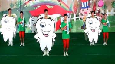 幼儿园大中小班早操律动视频《牙刷刷》