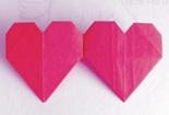 心心相连 教你折两颗连在一起的爱心