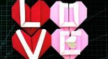 如何折叠LOVE文字爱心折纸步骤图