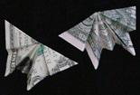 美元蝴蝶怎么折